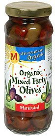 organic mixed party olives marinated Mediterranean Organic Nutrition info
