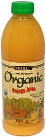 organic orange juice Noble Nutrition info