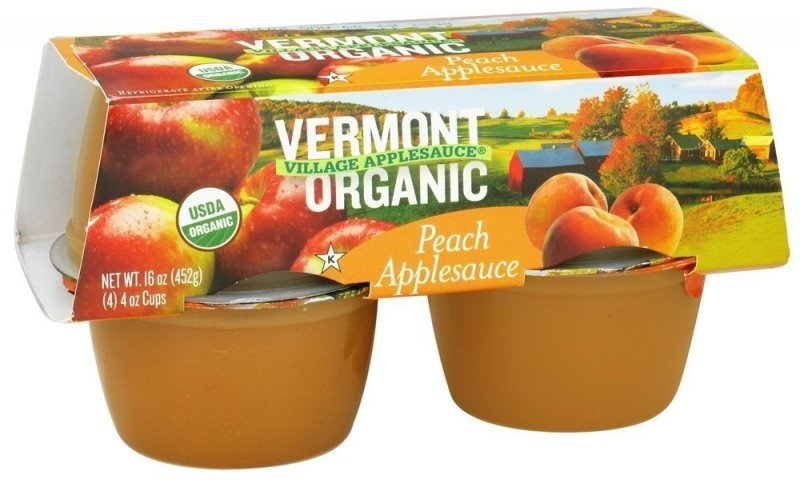organic peach applesauce Vermont Village Cannery Nutrition info