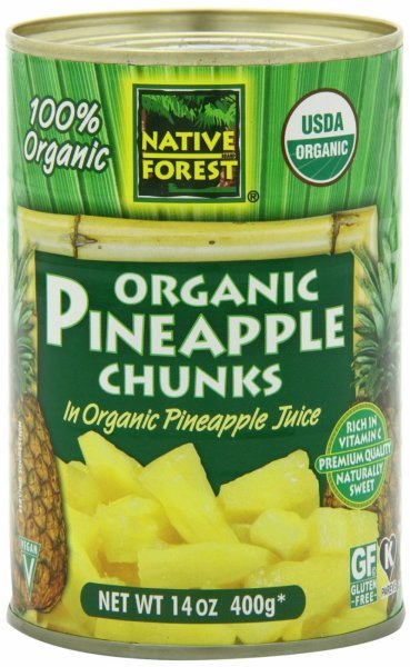 organic pineapple chunks Native Forest Nutrition info