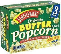 organic popcorn butter Simple Snacks Nutrition info