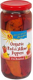 organic red & yellow peppers fire roasted Mediterranean Organic Nutrition info