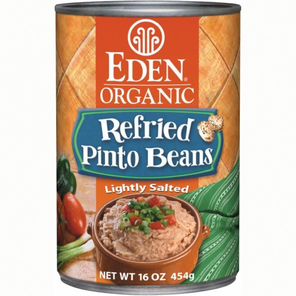 organic refried pinto beans Eden Nutrition info