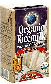 organic ricemilk original Good Karma Nutrition info