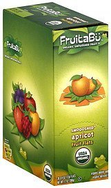 organic smoooshed fruit organic smooshed fruit, flat, apricot FruitaBu Nutrition info