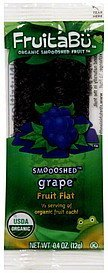 organic smooshed fruit flat, grape FruitaBu Nutrition info