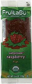 organic smooshed fruit flat, smooshed raspberry FruitaBu Nutrition info