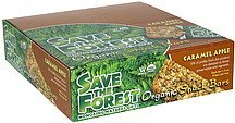 organic snack bars caramel apple Save the Forest Nutrition info