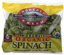 organic spinach Noreast Fresh Nutrition info