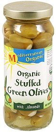 organic stuffed green olives with almonds Mediterranean Organic Nutrition info