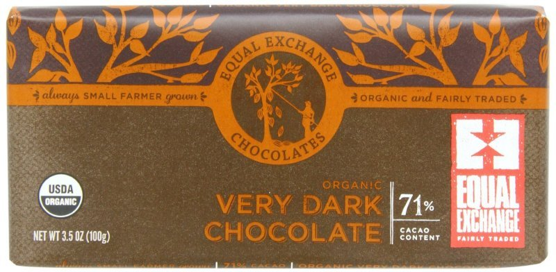 organic very dark chocolate Equal Exchange Nutrition info