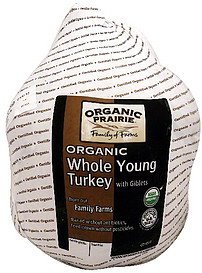 organic whole young turkey with giblets Organic Prairie Nutrition info