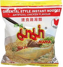 oriental style instant noodle chicken Mama Nutrition info