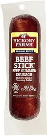 original beef summer sausage beef stick Hickory Farms Nutrition info