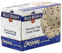 original ice cream chocolate chip cookie dough Blue Bunny Nutrition info