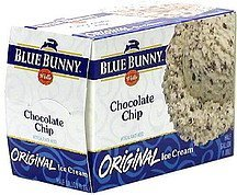 original ice cream chocolate chip Blue Bunny Nutrition info