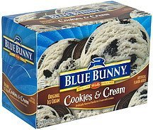 original ice cream cookies & cream Blue Bunny Nutrition info