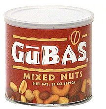 original mixed nuts Gubas Nutrition info