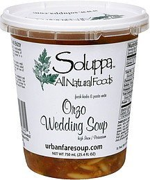 orzo wedding soup fresh herbs & pasts unite Soluppa Nutrition info