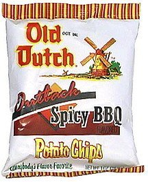 outback spicy bbq flavored potato chips Old Dutch Nutrition info