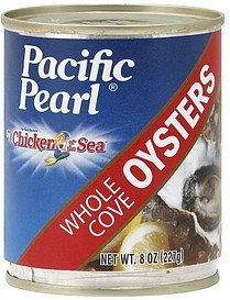 oysters whole cove Pacific Pearl Nutrition info