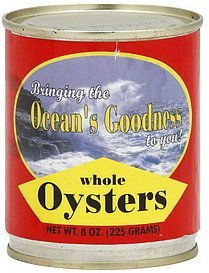 oysters whole King Seafoods Nutrition info