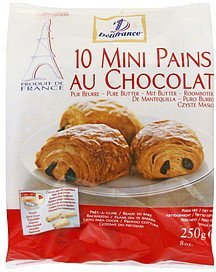 pains mini, au chocolat Delifrance Nutrition info