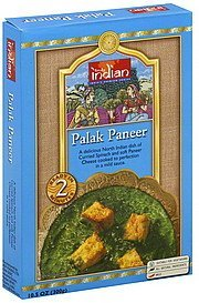 palak paneer mild Truly Indian Nutrition info