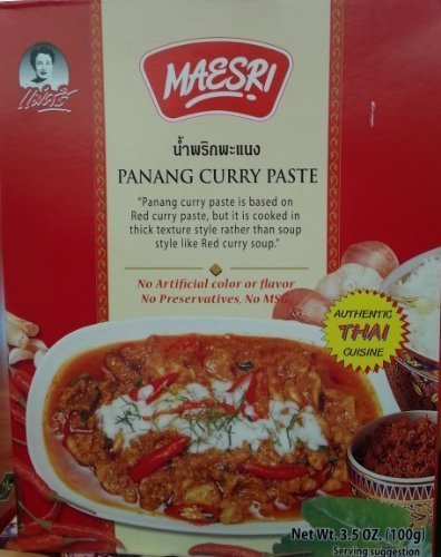 panang curry paste Maesri Nutrition info