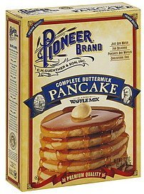 pancake and waffle mix complete buttermilk Pioneer Nutrition info