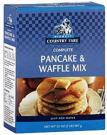 pancake & waffle mix complete Midwest Country Fare Nutrition info