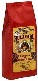 pancake & waffle mix kona coffee flavoured chocolate chips Hula Girl Nutrition info