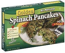 pancakes spinach Golden Nutrition info