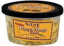 papaya-mango salsa fire-roasted, mild Native Kjalii Foods Nutrition info