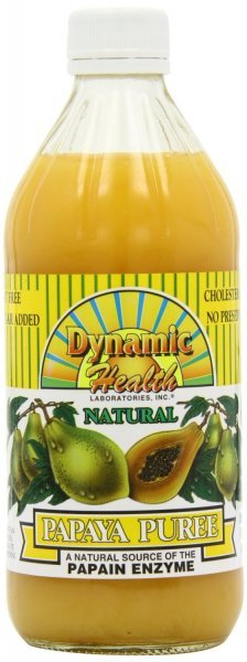 papaya puree Dynamic Health Nutrition info