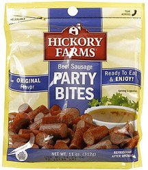 party bites beef sausage, original flavor Hickory Farms Nutrition info