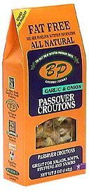 passover croutons garlic & onions BP Nutrition info