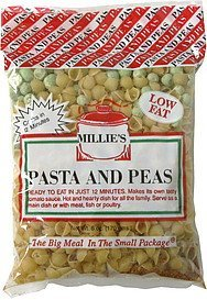 pasta and peas Millie's Nutrition info