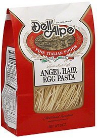 pasta angel hair egg Dell'Alpe Nutrition info