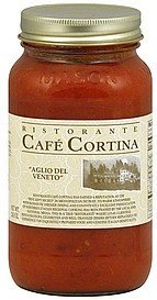 pasta sauce garlic cream, light roasted Ristorante Cafe Cortina Nutrition info