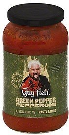 pasta sauce green pepper pepperoni Guy Fieri Nutrition info