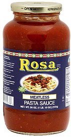 pasta sauce meatless Rosa Nutrition info
