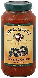 pasta sauce roasted garlic Sonoma Gourmet Nutrition info