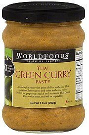 paste thai green curry, mild World Foods Nutrition info