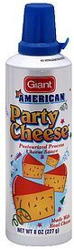 pasteurized process cheese sauce american Party Cheese Nutrition info