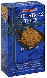 pastries butter puff, christmas trees Euro Patisserie Nutrition info