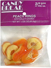 peach rings pre-priced Candy Break Nutrition info