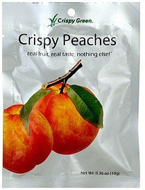 peaches crispy Crispy Green Nutrition info