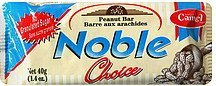 peanut bar noble choice Camel Nutrition info