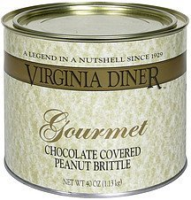 peanut brittle gourmet chocolate covered Virginia Diner Nutrition info